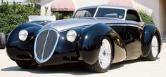 1936 Delahaye, Built by hot rod legend Boyd Coddington. Viper V-10 power with a 6-speed transmission.