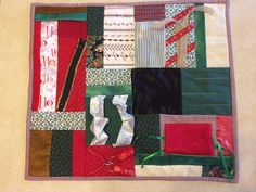 Christmas Gift Fidget Quilt by ScrappyRemnants on Etsy