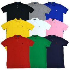 Polo NWT Ralph Lauren Mens Button Down Dress Shirt Pony Logo SLIM FIT Easy Care