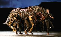 Awesome articulated horse puppet from War Horse at the National Theatre.