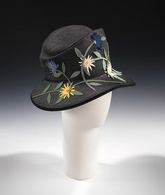 Cloche 1929, American, Made of wool and straw