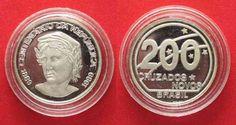 1989 Brasilien BRAZIL 200 Cruzados Novos 1989 CENTENNIAL OF THE REPUBLIC silver Proof # 66759 Proof