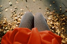 fall colors and tights
