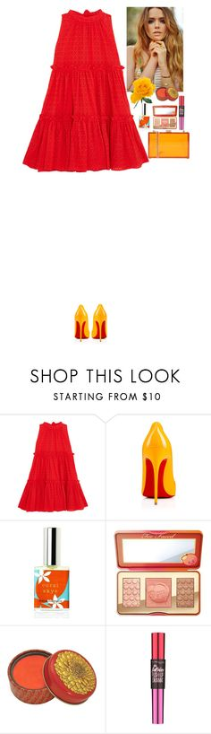 """""""Sunny"""" by eliza-redkina on Polyvore featuring мода, Lisa Marie Fernandez, Christian Louboutin, Too Faced Cosmetics, Maybelline, Oui, Odile!, outfit, like, look и Spring2017"""