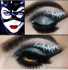 Cat woman inspired makeup