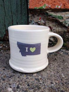 Montana Gifts Made in Montana Gifts Handmade Mugs by MugsforChange