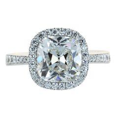 2.49ct Cushion Cut Diamond Engagement Ring thumbnail 1