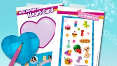 Download: How to make a Heart Card - Downloads - Activities - LEGO® Friends - LEGO.com - Friends LEGO.com