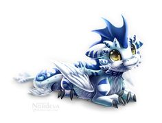 Chibi Kenji by Nordeva on DeviantArt Fantasy Kunst, Fantasy Art, Dragon Artwork, Dragon Pictures, Cute Dragons, Blue Dragon, Sea Dragon, White Dragon, Fantasy Dragon