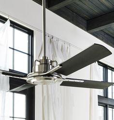 Fabulous Fan! Peregrine Industrial No Light 4-Blade Ceiling Fan   Rejuvenation