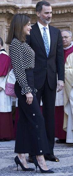 King Felipe and Queen Letizia attend the Easter Mass in Palma de Mallorca 1 Apr. 2018