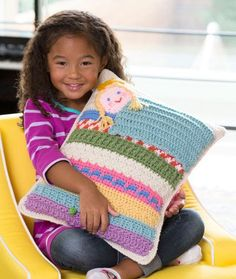 [Free Patterns] 9 Great Crochet Pillow Patterns for Kids - Knit And Crochet Daily