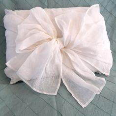 Simplicity Boudoir Bow Pillow in White