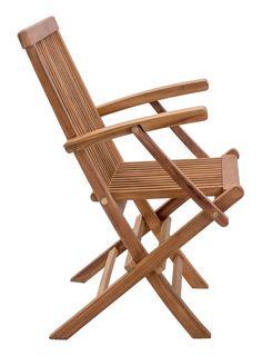 Zuo Modern Regatta Teak Wood Folding Arm Chair - Set of 2 Outdoor Folding Chairs, Wood Folding Chair, Outdoor Armchair, Folding Furniture, Garden Furniture, Outdoor Furniture, Furniture Design, Dining Arm Chair, Dining Room