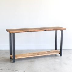 Farmhouse Console Table with Lower Shelf / Reclaimed Wood Entryway Table / Sofa Table - SHIPS FREE! Farmhouse Console Table with Lower Shelf / Reclaimed Wood Reclaimed Barn Wood, Old Wood, Tiny Desk, Building Process, Low Shelves, Shelf, Mesa Sofa, Wood Sofa Table, Industrial Console Tables