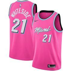 18cec3f6d Men s Miami Heat Hassan Whiteside Nike Pink 2018 19 Swingman Jersey –  Earned Edition