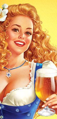 Pictures and illustrations artists to order - iNORAMA illustrators Pin Up Retro, Pin Up Girl Vintage, Vintage Art, Retro Art, Pin Up Illustration, Illustration Artists, Girl Illustrations, Pin Up Pictures, Beer Girl
