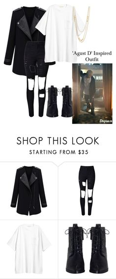 """'Agust D' Inspired outfit"" by awkmusican ❤ liked on Polyvore featuring WithChic, Zimmermann and Gorjana"