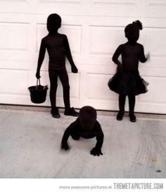 Shadow Halloween costume for kids