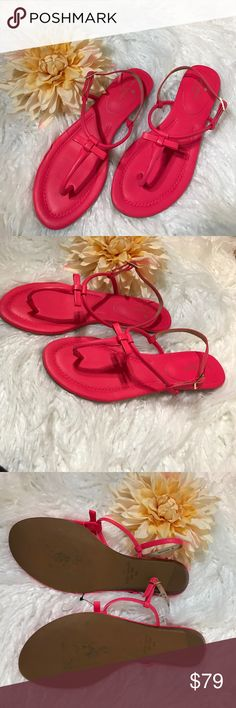 Kate Spade New York Hot Pink Sandals Super cute & beautiful color! • Small bow accents. NWOT kate spade Shoes Sandals