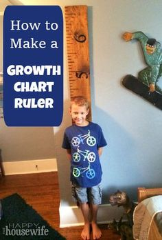 Easy DIY Tutorial: How to Make a Growth Chart Ruler   The Happy Housewife