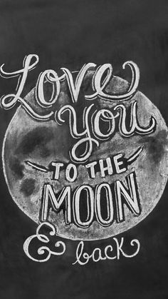 "This ""Love You To The Moon & Back"" print features whimsical hand lettering and a chalk moon illustration. The print would make a sweet addition to a child's room or nursery. ♥ Our fine art chalkboard Lily And Val, Moon Print, Chalkboard Signs, Chalkboards, Chalkboard Ideas, Chalkboard Art Kitchen, Chalkboard Typography, Blackboard Art, Chalkboard Calendar"