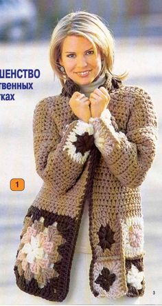 Discover thousands of images about Vintage Boho Granny Square Bordered Mini Dress with Long Sleeves and V-Neckline PDF Crochet Pattern by MomentsInTwine on Etsy Crochet Bolero, Crochet Jacket, Crochet Cardigan, Love Crochet, Crochet Granny, Knit Crochet, Irish Crochet, Crochet Fashion, Crochet Clothes