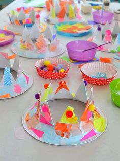 Paper Plate Party Hats