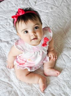 Rilyn's 6 month pictures. Like the angle.