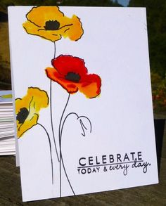 IC565 Celebrate - her inspiration was http://www.decorativedishes.net/decorative-plate-bright-bold-yellow-red-poppies-medium-size/