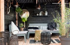 23 Magical Outdoor Hanging Decoration Ideas to Bring Your Patio to Life - The Trending House Outside Living, Outdoor Living, Garden Living, Home And Garden, Garden Furniture, Outdoor Furniture Sets, Outdoor Spaces, Outdoor Decor, Interior Design Living Room