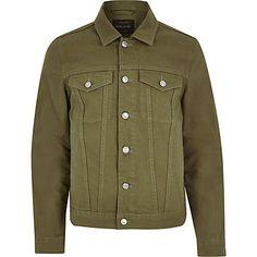 Dark green denim jacket $90.00