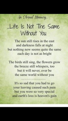 The world is not the same without you little one Love and miss you everyday Jack sleep tight baby boy xxxxx Loss Quotes, Dad Quotes, Missing My Husband, Memorial Poems, Memorial Cards, Cat Memorial, Mom In Heaven, Grief Poems, Funeral Poems