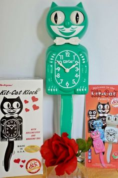 """Black tail white bow tie /""""Kit-Cat Klock/"""" Clock Replacement Tail and Bow Tie"""