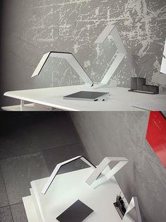 OLED Design - Split Lamp by Predrag Vujanovic - Organic Lights -  http://www.organic-lights.com/en/oled-design/split-lamp/