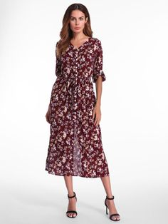 50f7d4f9bd2 Bohemian Women Floral Printed Sleeve Maxi Dresses is high-quality