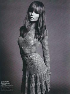 crochet dress by Salvatore Ferragamo