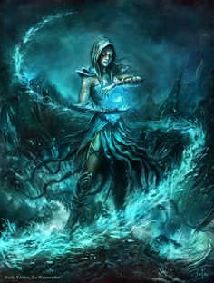 Naida, the Watercaster - by ~bpsola | #art