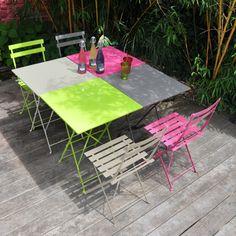 Table de jardin carr�e pliante Acier 60x60cm POP