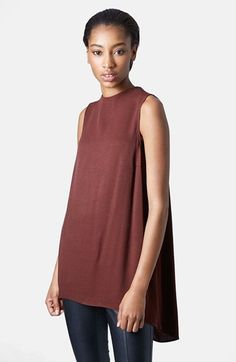 Topshop Textured Sleeveless Tunic available at #Nordstrom