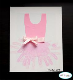 Hand print tutu & 58 more hand and footprint art projects. Kids Crafts, Craft Activities For Kids, Cute Crafts, Crafts To Do, Projects For Kids, Art Projects, Dance Crafts, Kids Diy, Preschool Crafts