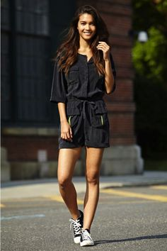 Free People Models Off Duty All Star, Models Off Duty, Estilo Converse, Black Converse, Converse Shoes, Converse Chuck Taylor, Outfit Trends, Outfit Ideas, Outfits With Converse