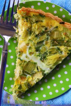 Leel and Scallion Tart - tarta me Prasa from kalisasorexi.com