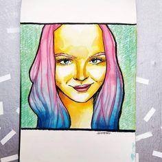 Nikola Vizinová (@art_by_nerea) • Fotky a videa na Instagramu Vivid Colors, Watercolor Art, Disney Characters, Fictional Characters, Instagram, Watercolor Painting, Watercolour, Fantasy Characters