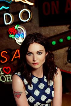 Portrait of pop singer and model Sophie Ellis-Bextor, as published in Phoenix no. 20, Soho, London, England, United Kingdom, 2016, photograph by Diana Gomez.