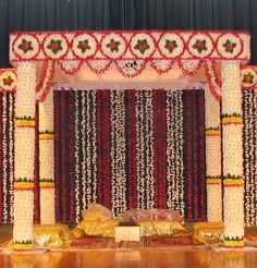 Image result for red and gold mandap decor