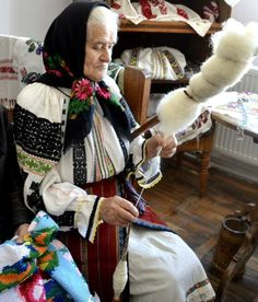 Spindle and distaff -Romanian Culture and Traditions