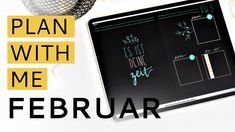 DIGITAL PLAN WITH ME | Februar | Digital Bullet Journal Black Edition #digitalplanning Digital Planners