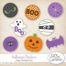 Halloween Stickers Templates #CUdigitals cudigitals.comcu commercialdigitalscrapscrapbookgraphics