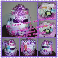 Another diaper cake with an owl design. Created 10/27/13